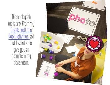 Playdoh Mats for Testing Vocabulary - Upper Elementary Word Work