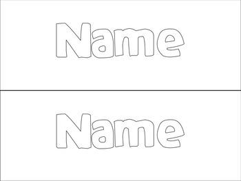 Playdoh Name Mats