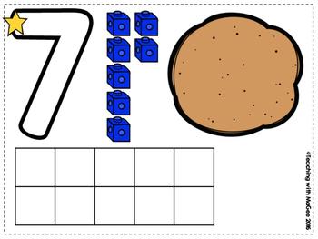 Playdoh Number Mats