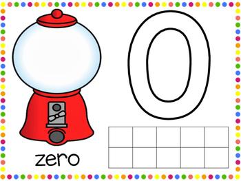 Playdough Number Mats in English 0-20