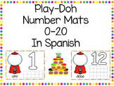 Playdough Number Mats in Spanish 0-20