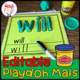 Play-doh EDITABLE Word Mats ELA Center | Word Work