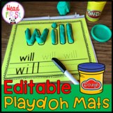 Playdoh Play-doh Playdough Editable Word Mats ELA Center |