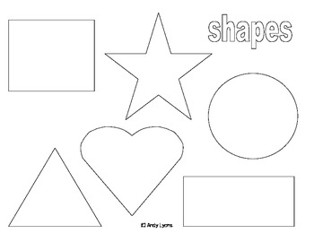 Playdoh Shapes Mat