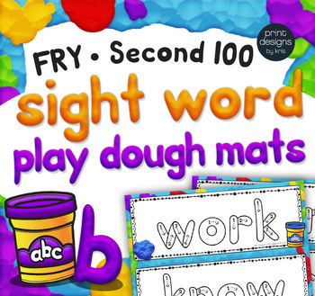 Playdoh Sight Word Mats with Custom Clay Font - FRY SECOND 100 Words