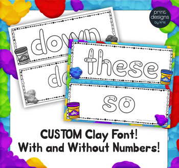Playdoh Sight Word Mats with Custom Clay Font - FRY THIRD 100 Words