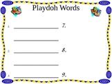 Playdoh Sight Words Recording Sheet