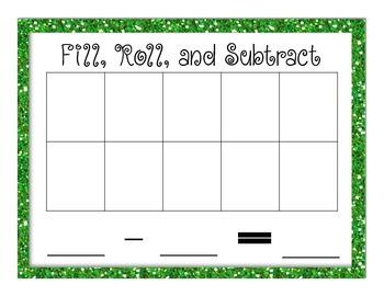Playdoh Subtraction (March Math Center Freebie)