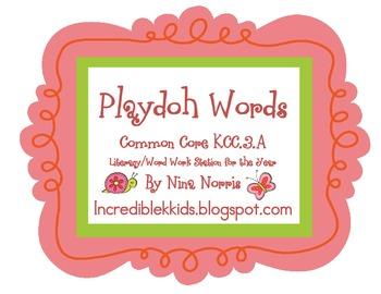 Playdoh Word Packet