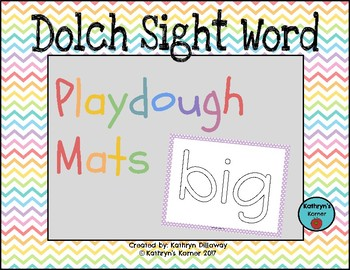 Playdouch Mats [Dolch Sight Words]