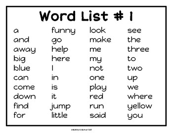 Playdouch Mats [Dolch Sight Words] *Half-page*