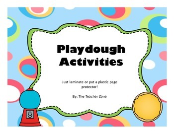 Playdough Activities Letters, Numbers, Pictures
