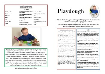 Playdough Activities for Parents and Support Staff