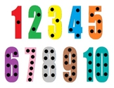 Playdough Activity Mat - Numbers 1-10