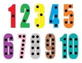 Playdough Activity Mat - Numbers 1-10