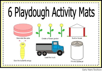 Playdough Activity Mats Bundle for Preschoolers