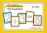 Playdough Addition with 10 Frame - Math Center (Sums up to 20)