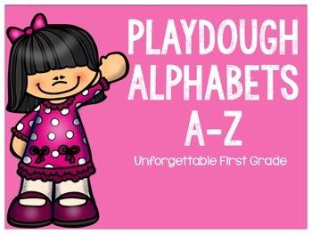 Playdough Alphabets A-Z {Freebie}
