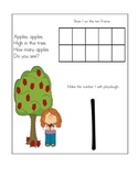 Playdough Apple Counting Mats