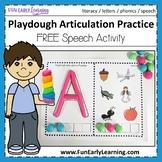 Playdough Articulation Practice - Phonics & Speech Activity