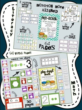 Playdough Bundle (Math & Literacy)