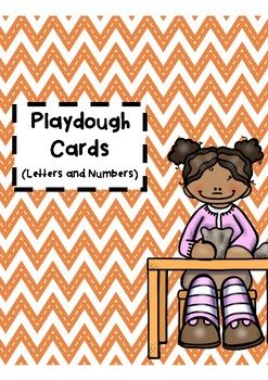 Playdough Cards - Alphabet and Numbers