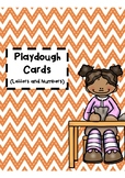 Playdough Cards - Alphabet and Numbers