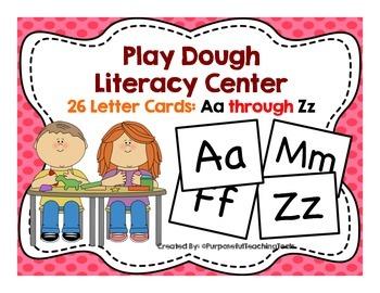 Playdough Center Alphabet Cards - Common Core Sensory Acti