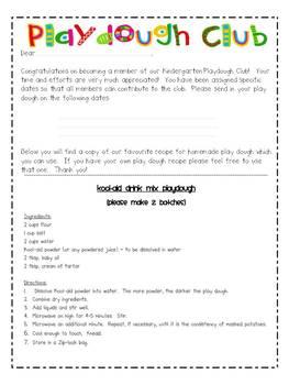 Playdough Club - EDITABLE