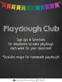 Playdough Club Sign Up Letter & Schedule - Parents Kinderg
