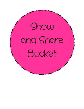 Playdough Club and Show and Share Bucket Labels
