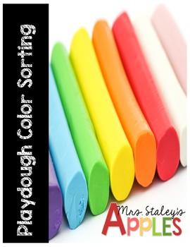 Playdough Color Sorting