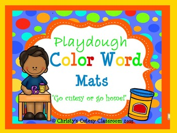 Playdough Color Word Mats