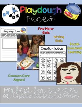 Playdough Faces: An ELA Center Activity