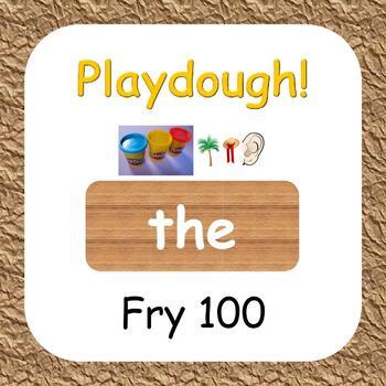 Playdough! Fry 100 Sight Words
