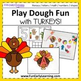 Playdough Fun with Turkeys!