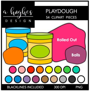 Playdough Clipart [Ashley Hughes Design]