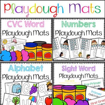Playdough Learning Mats BUNDLE