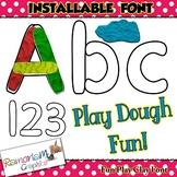 Playdough Letter Font