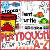 Playdough Letter Mats - A-Z Letter Printables - PreK, Kindergarten, Preschool