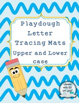 Playdough Letter Printing Mats