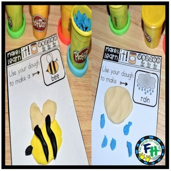 Playdough Make & Learn Mats {PLANTS}