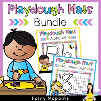 Alphabet & Number Playdough Mat Bundle (Zaner-Bloser & Aus