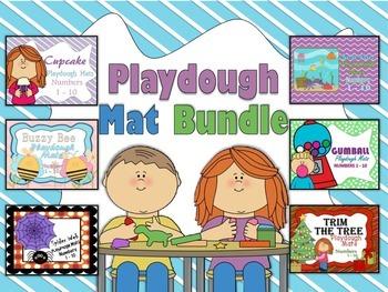 Playdough Mat Bundle Numbers 1 - 10 With Ten Frames
