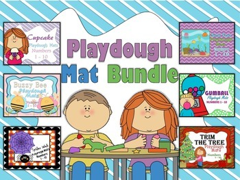 Playdough Mat Bundle Numbers 1 - 10 With Ten Frames