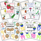 Playdough Mat Bundle (Uppercase, Lowercase, and Numbers 0-20)