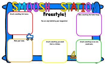 Playdough Mat for STEM/STEAM Freebie!