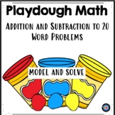 Playdough Math Mat for Addition and Subtraction to 20 Word