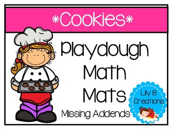 Playdough Math Mats - Missing Addends With Cookies