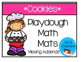 Playdough Math Mats - Missing Addends With Cookies